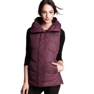 Eileen Fisher High Collar Zip Down Vest